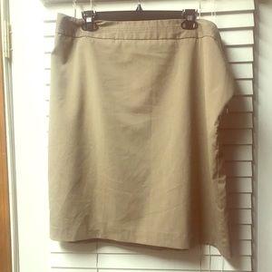Mocha/tan pencil skirt